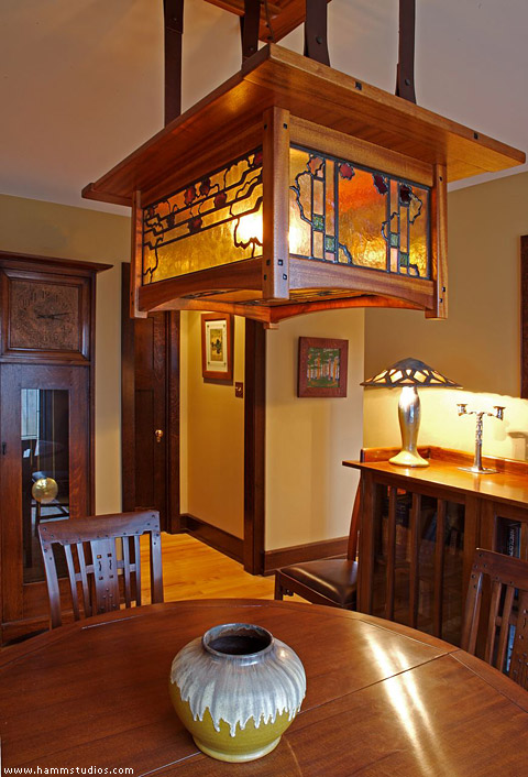 Greene And Greene Style Dining Room Chandelier With